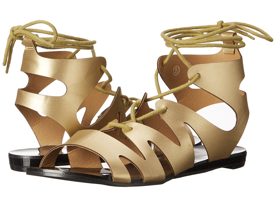 C Label - Flatty-14 (Gold) Women's Sandals