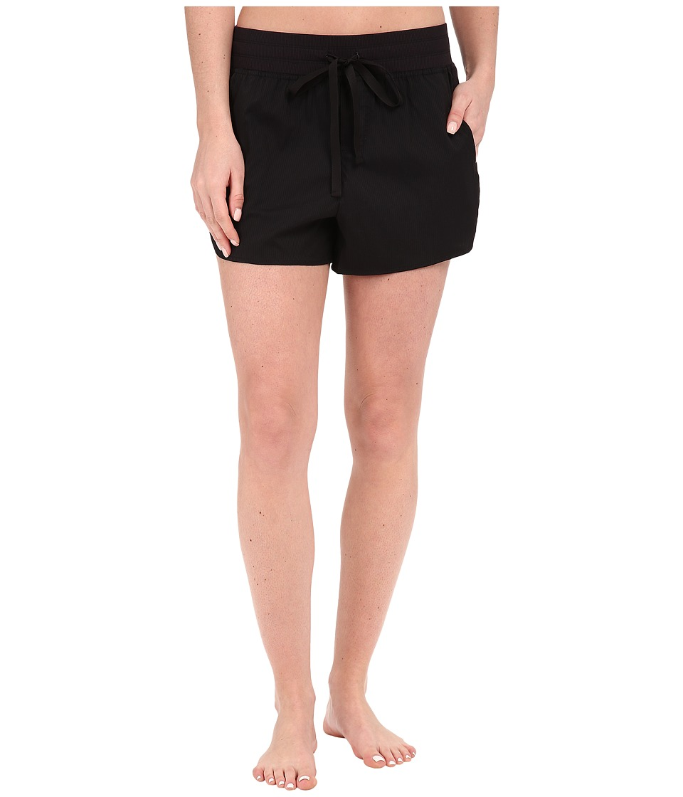Midnight by Carole Hochman - Lounge Woven Shorts (Black) Women's Pajama