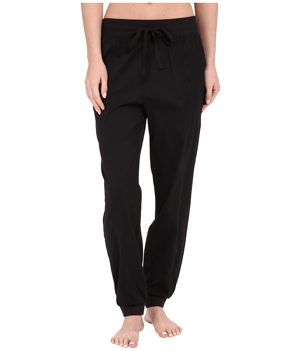 Midnight by Carole Hochman - Lounge Woven Jogger Pants (Black) Women's Pajama