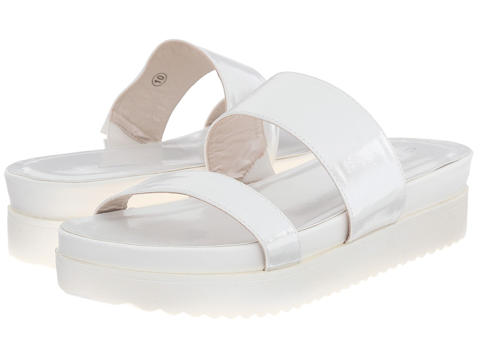 C Label - Elinor-10 (White) Women's Slide Shoes