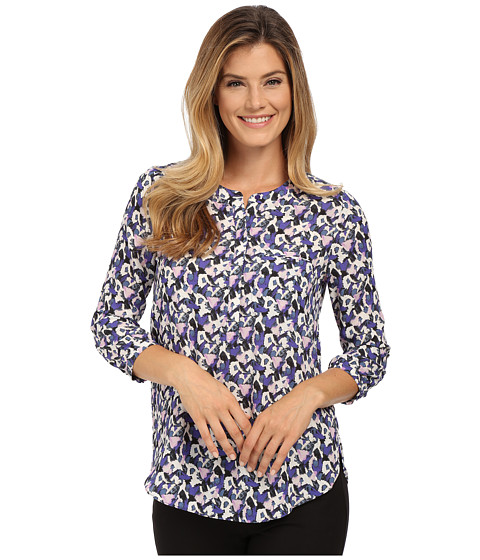 NYDJ - Solid 3/4 Sleeve Pleat Back (Lilac Doves Lilac) Women