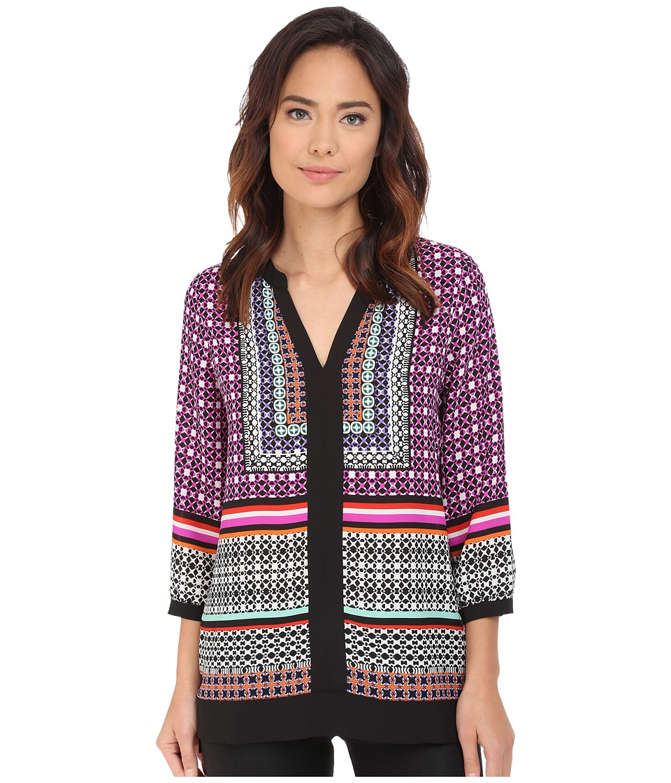 NYDJ - Border Tunic (Kala Scarf Black) Women's Blouse