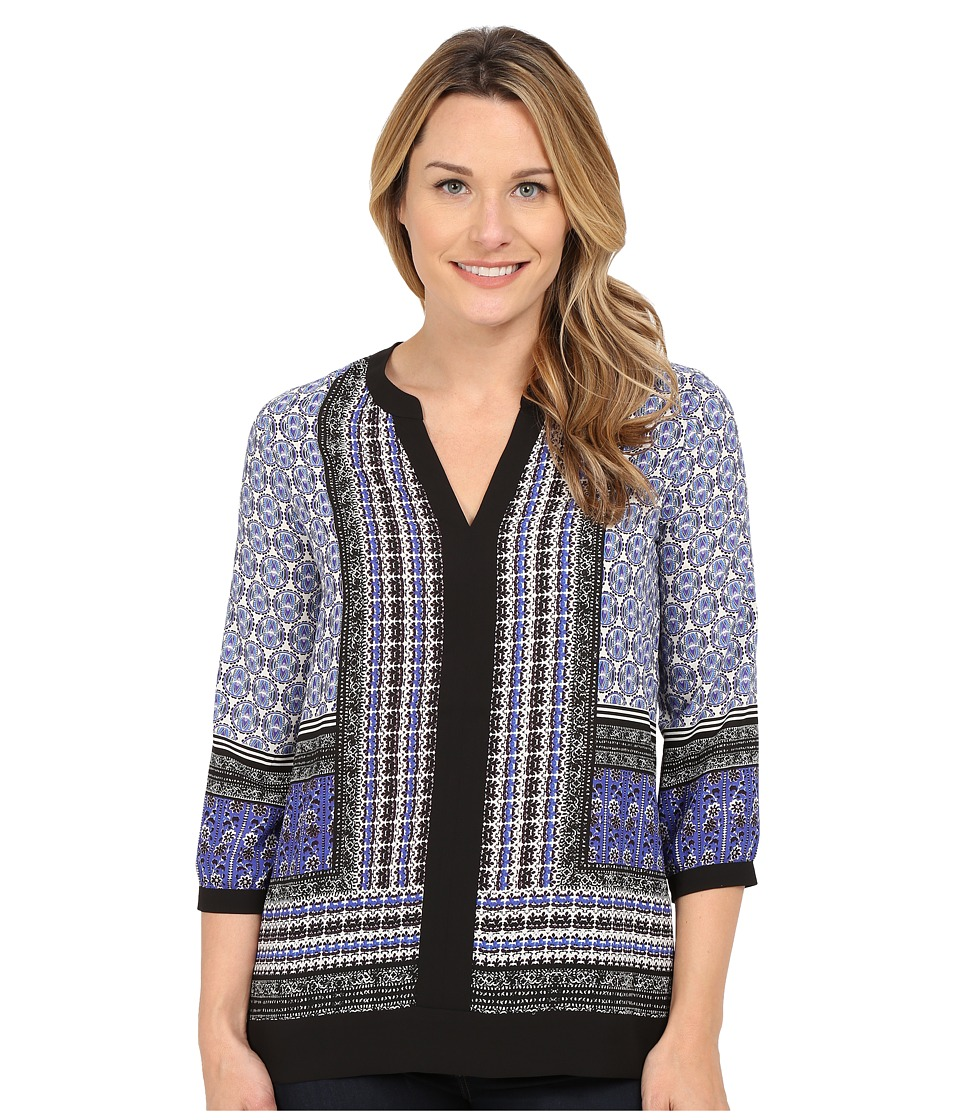 NYDJ - Border Tunic (Romania Border Oxford Blue) Women's Blouse