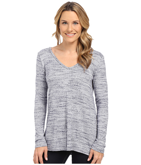 NYDJ - Basic V-Neck Pullover (Spaced Dye Indigo) Women