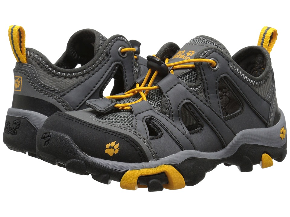 Jack Wolfskin Kids - Mountain Attack Air (Toddler/Little Kid/Big Kid) (Tarmac Grey) Boy's Shoes