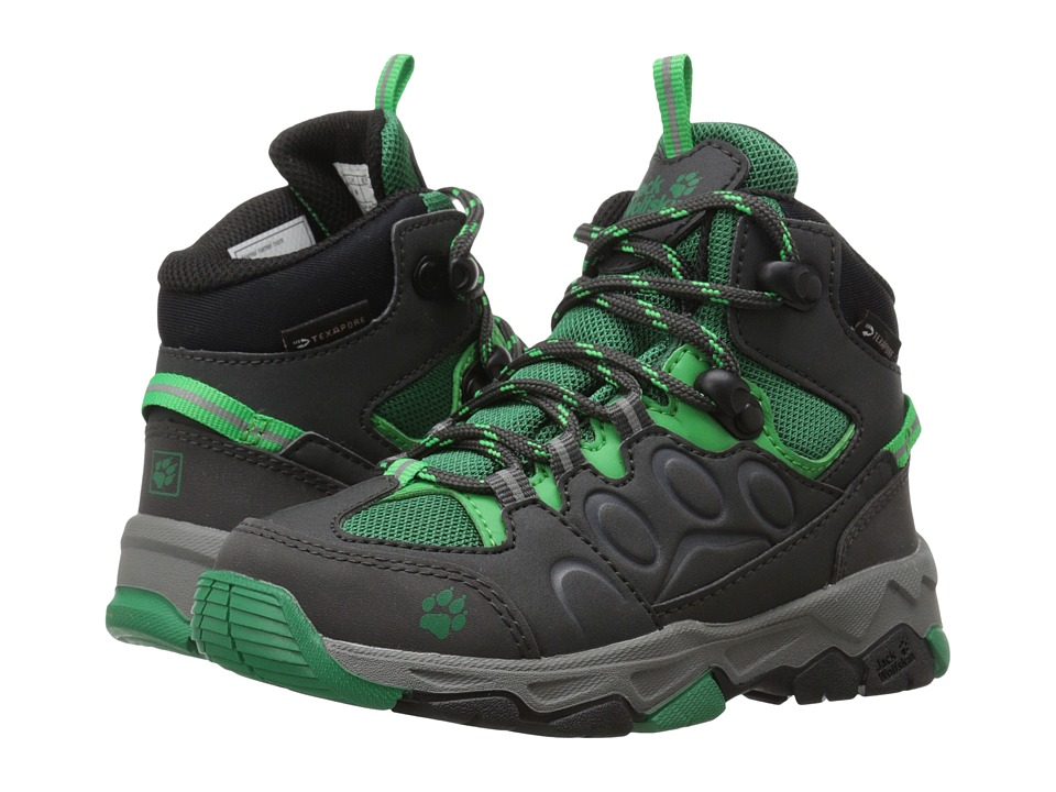 Jack Wolfskin Kids - Mountain Attack 2 Waterproof Mid (Toddler/Little Kid/Big Kid) (Cucumber Green) Boys Shoes