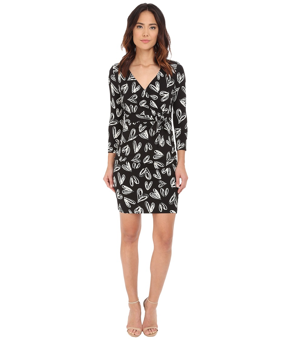 NYDJ - Antoinette Paradise Flourish Wrap Dress (Promise Hearts Vanilla) Women's Dress