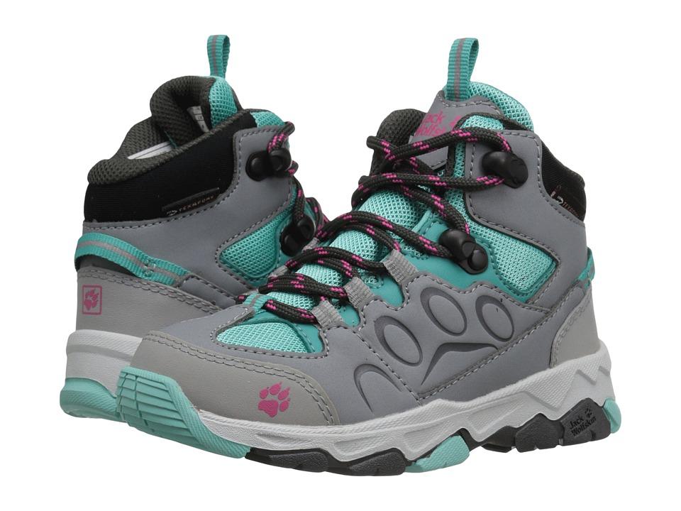 Jack Wolfskin Kids - Mountain Attack 2 Waterproof Mid (Toddler/Little Kid/Big Kid) (Pool Blue) Girls Shoes
