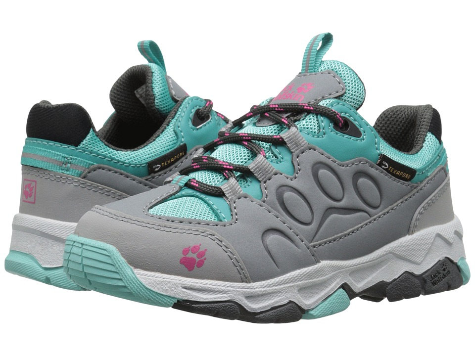 Jack Wolfskin Kids - Mountain Attack 2 Waterproof (Toddler/Little Kid/Big Kid) (Pool Blue) Girls Shoes