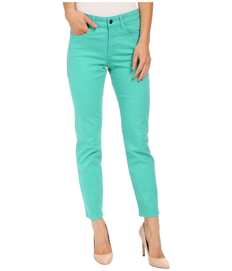 NYDJ - Clarissa Skinny Ankle Fine Line Twill (Jade Mint) Women's Jeans