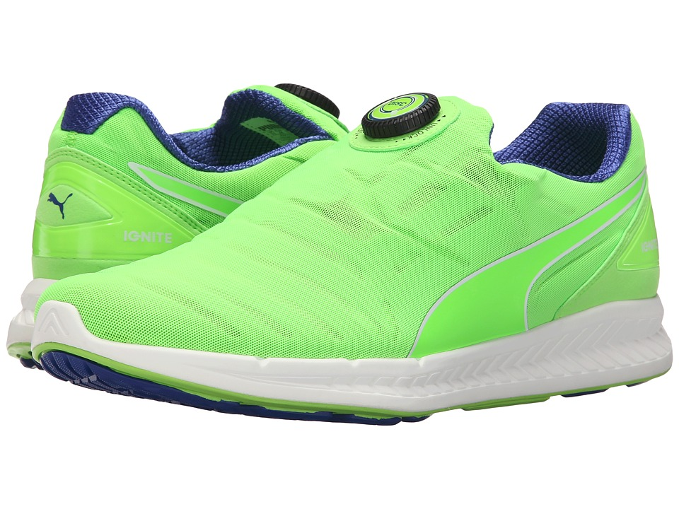 PUMA - Ignite Disc (Green Gecko/Surf The Web) Men's Shoes