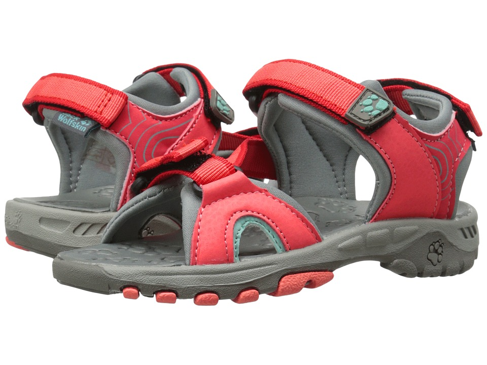 Jack Wolfskin Kids - Lakewood Ride Sandal (Toddler/Little Kid/Big Kid) (Hibiscus Red) Girls Shoes