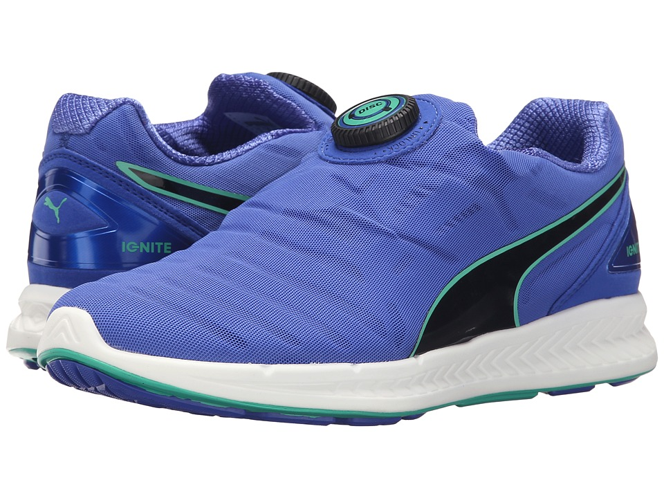 PUMA - Ignite Disc (Dazzling Blue/Black/Mint Leaf) Women's Shoes