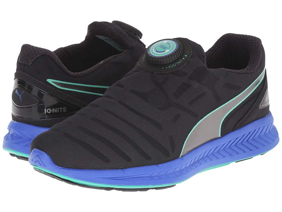 PUMA - Ignite Disc (Black/Puma Silver/Dazzling Blue) Women's Shoes