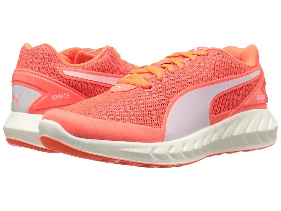 PUMA - Ignite Ultimate 3D (Fluo Peach/White) Women's Shoes