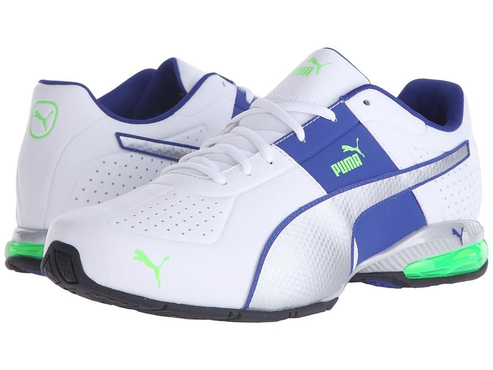 PUMA - Cell Surin 2 (White/Puma Silver/Green Gecko) Men's Shoes