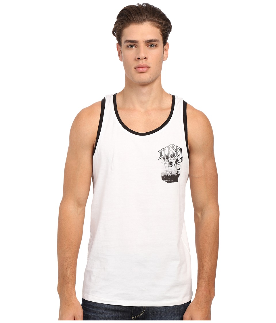 Diesel - Bacco Singlet TAKD (White) Men's Sleeveless