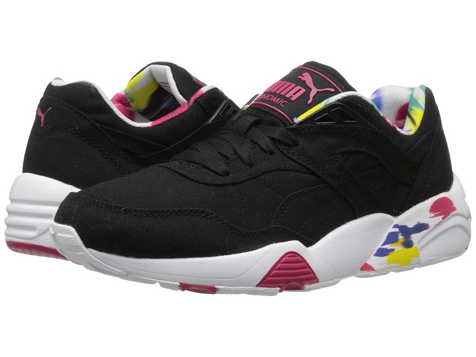 PUMA - R698 Blur (Black/White/Rose Red) Women's Shoes