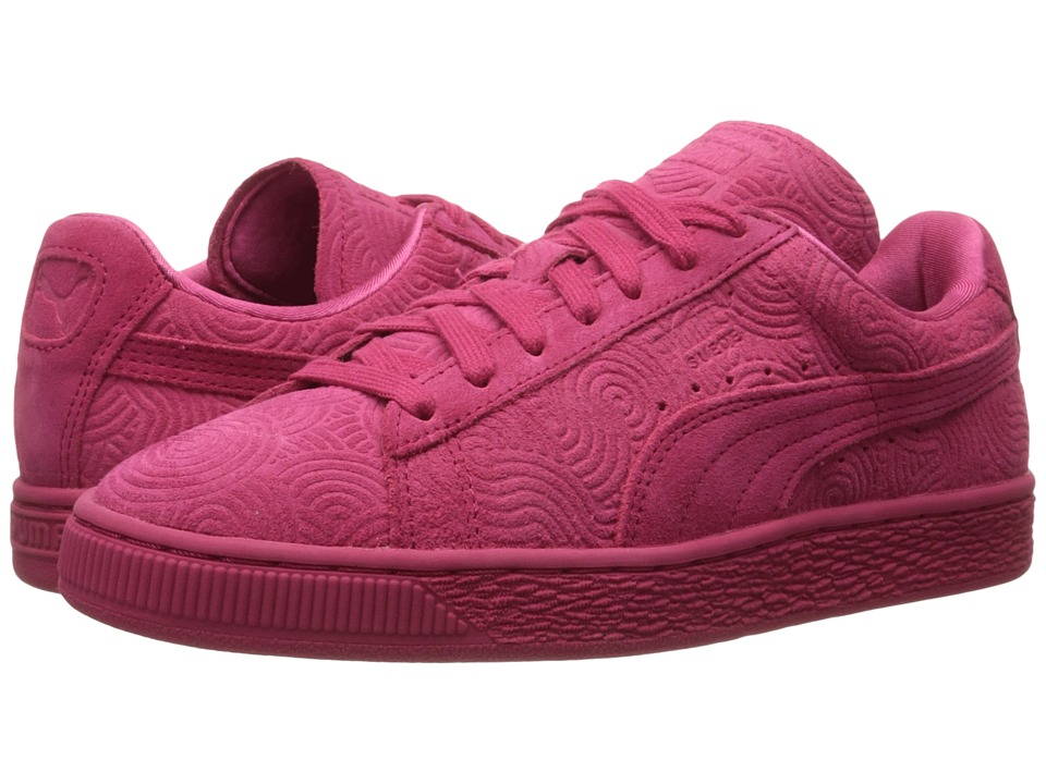 PUMA - Suede Classic + Colored (Rose Red/Rose Red) Women's Shoes