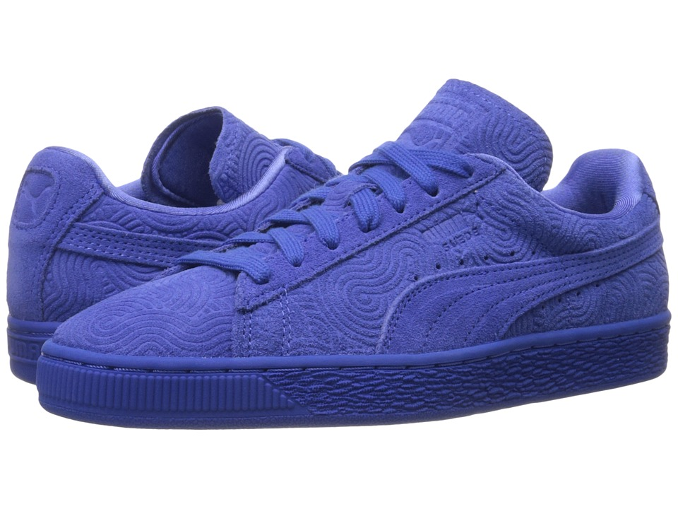PUMA - Suede Classic + Colored (Dazzling Blue/Dazzling Blue) Women's Shoes