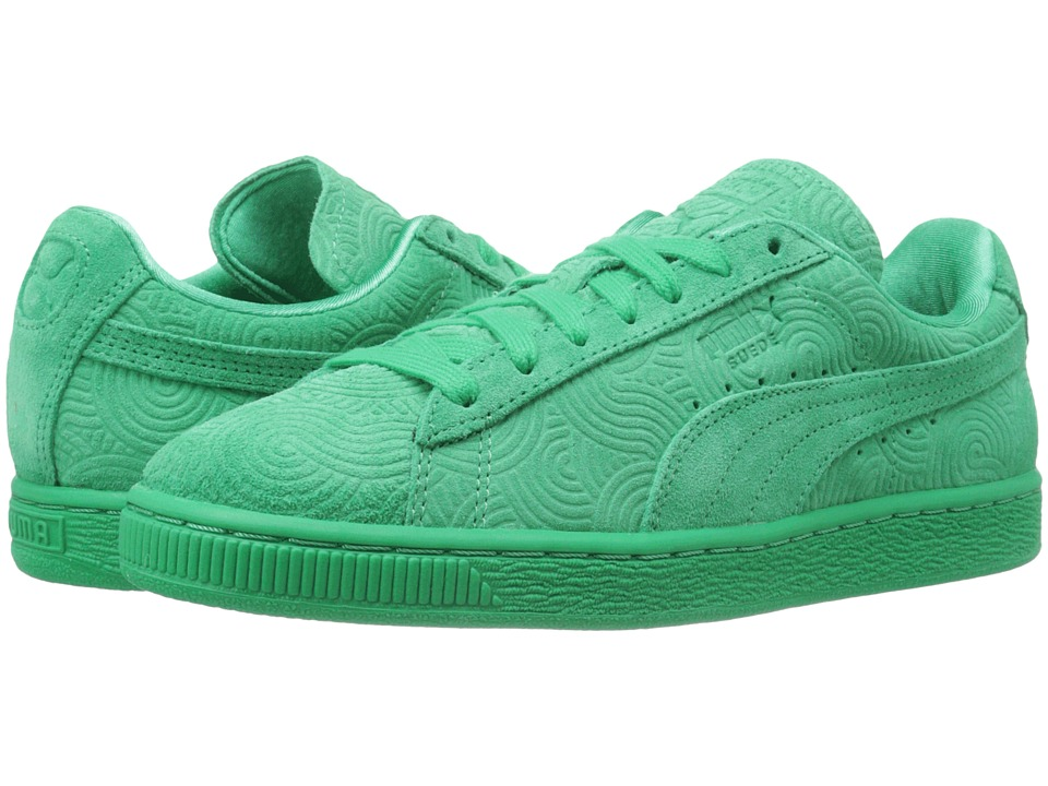PUMA - Suede Classic + Colored (Simply Green/Simply Green) Women's Shoes