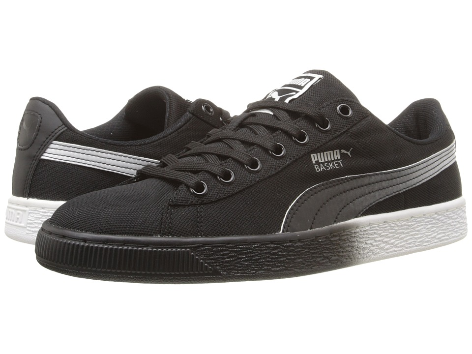 PUMA - Basket Classic Mesh Fade (Black) Men's Shoes