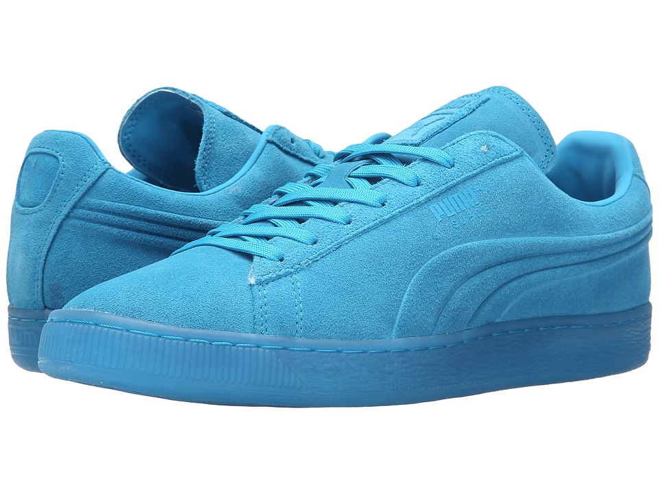 PUMA - Suede Emboss Iced Fluo (Atomic Blue) Men's Shoes