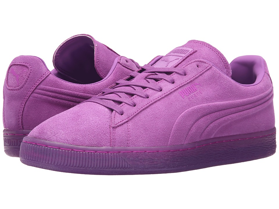 PUMA - Suede Emboss Iced Fluo (Purple Cactus Flower) Men's Shoes