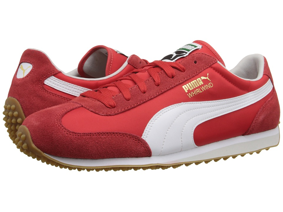 PUMA - Whirlwind Classic (High Risk Red/White/Gum) Men's Lace up casual Shoes