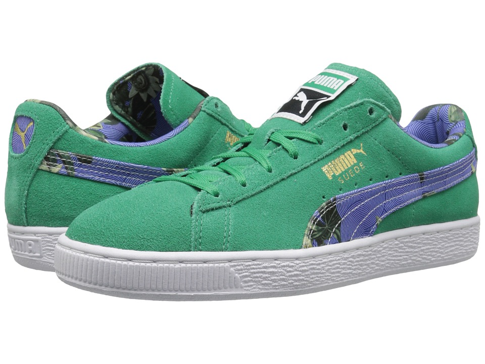 PUMA - Suede Classic + Flourish (Simply Green/White) Women's Shoes
