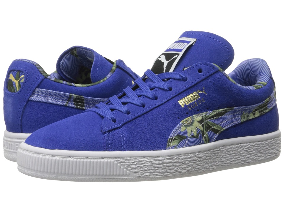 PUMA - Suede Classic + Flourish (Dazzling Blue/White) Women's Shoes