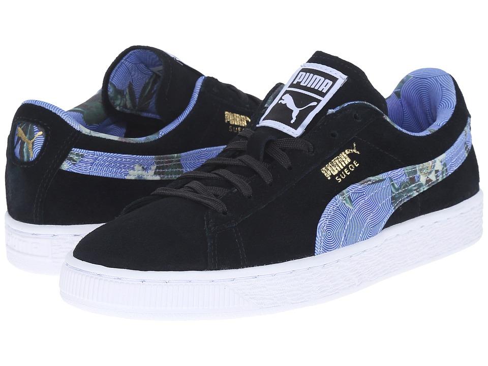 PUMA - Suede Classic + Flourish (Black/White) Women's Shoes