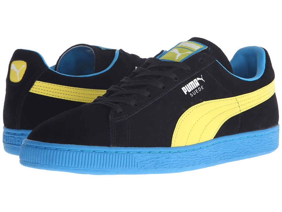 PUMA - Suede Classic+ LFS (Black/Blazing Yellow/Atomic Blue) Men's Lace up casual Shoes