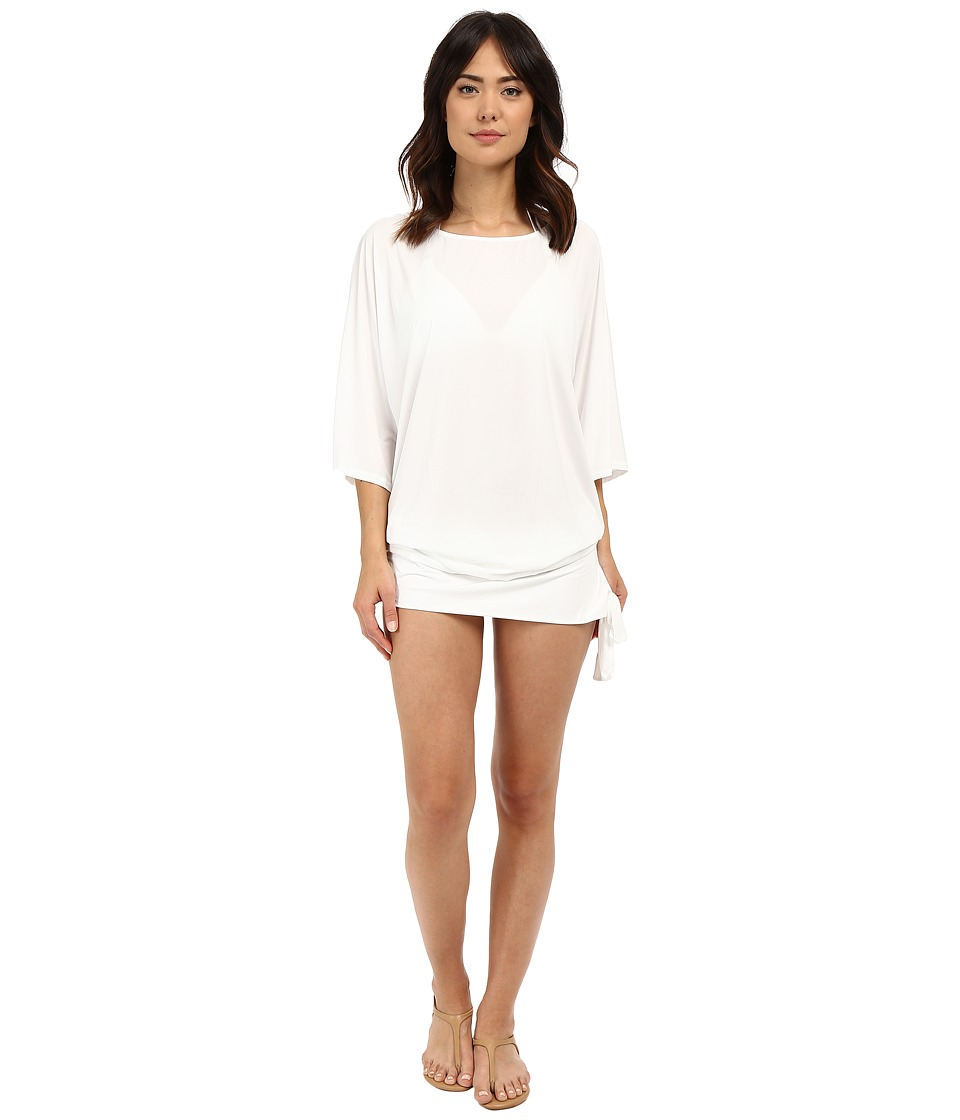 MICHAEL Michael Kors - Chain Solids Side Tie Cover-Up (White) Women