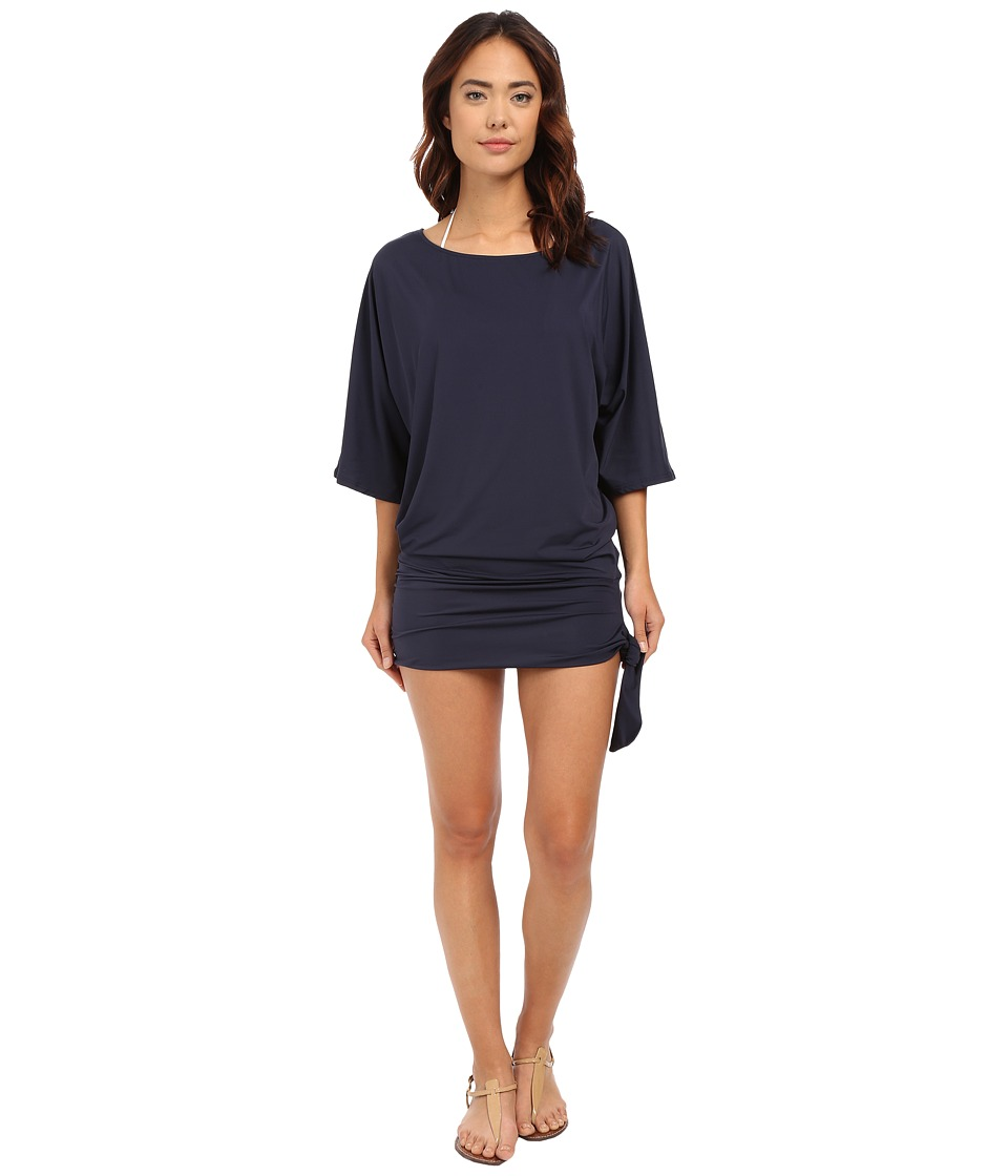 MICHAEL Michael Kors - Chain Solids Side Tie Cover-Up (New Navy) Women's Swimwear