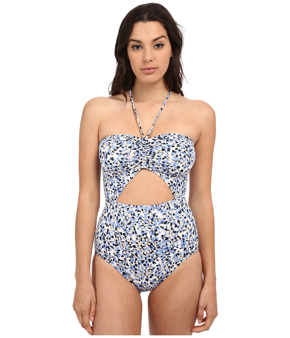 MICHAEL Michael Kors - Chilitington Halter Maillot One-Piece (New Navy) Women's Swimsuits One Piece