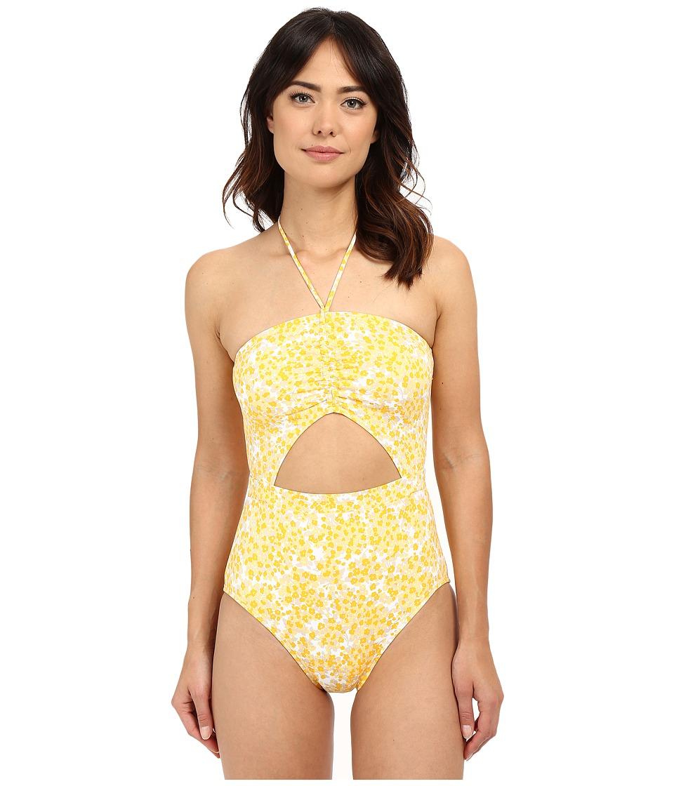 MICHAEL Michael Kors - Chilitington Halter Maillot One-Piece (Sunflower) Women's Swimsuits One Piece