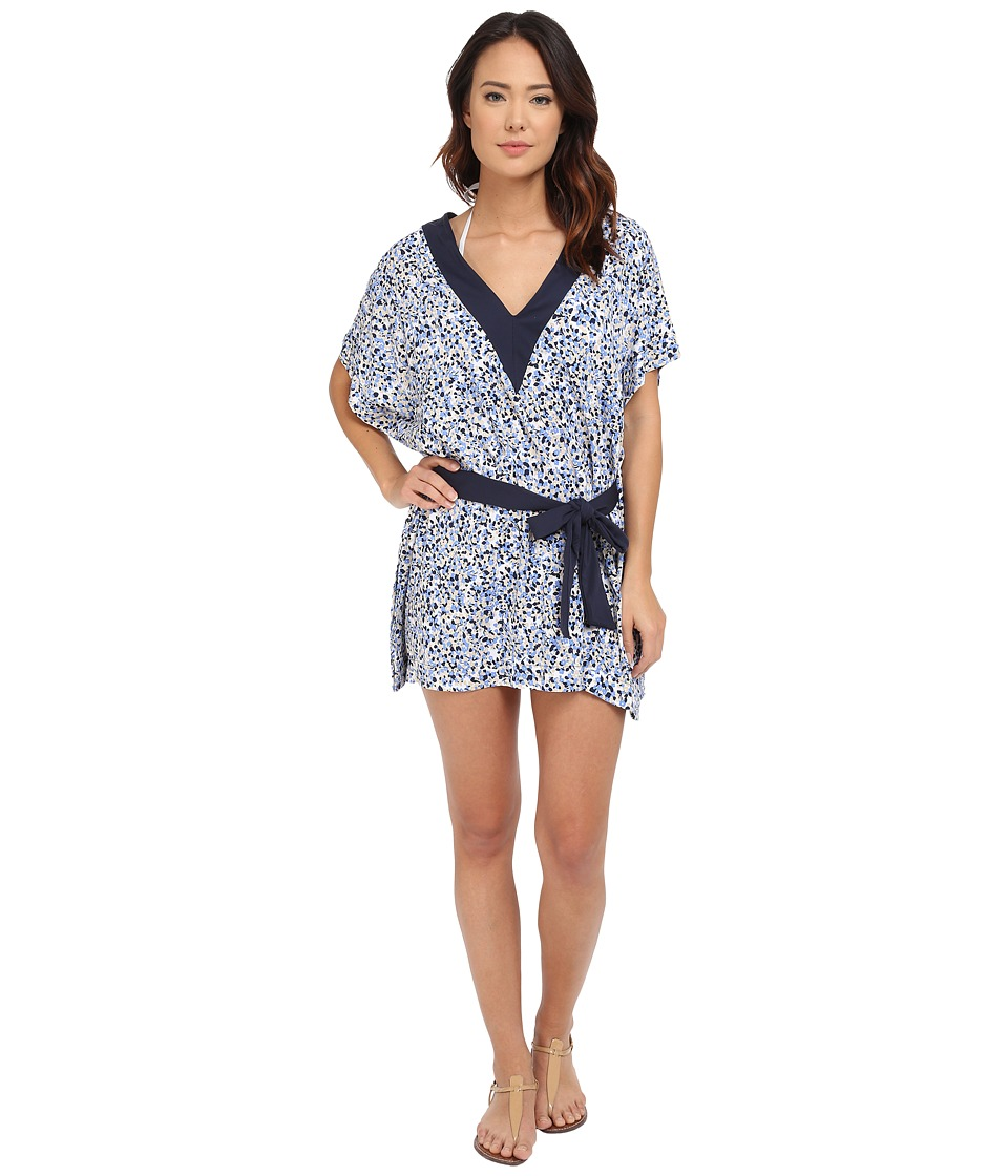 MICHAEL Michael Kors Chilitington V-Neck Tunic Cover-Up (New Navy) Women