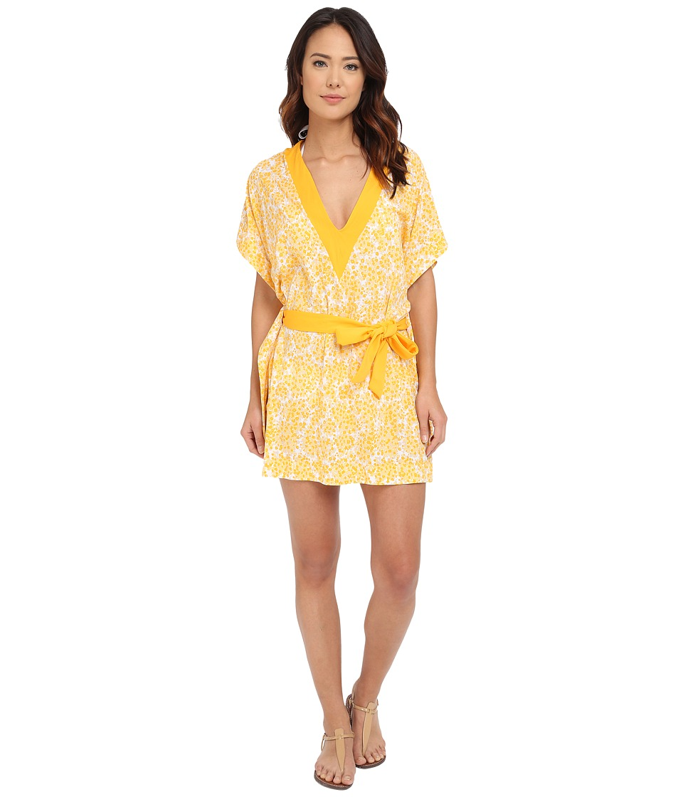 MICHAEL Michael Kors - Chilitington V-Neck Tunic Cover-Up (Sunflower) Women's Swimwear