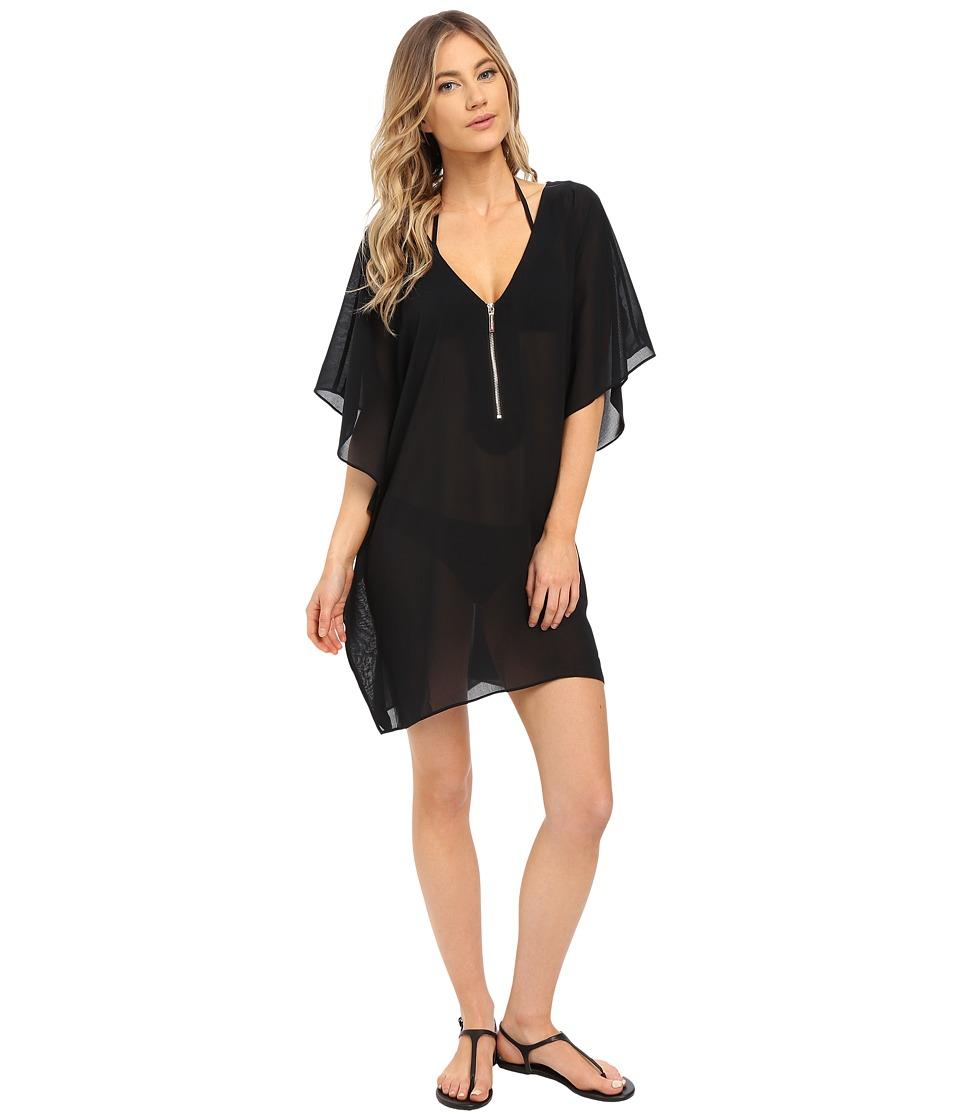 MICHAEL Michael Kors - Draped Solids Tunic Cover-Up (Black) Women's Swimwear