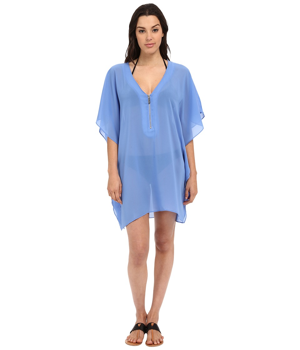 MICHAEL Michael Kors - Draped Solids Tunic Cover-Up (Crew Blue) Women