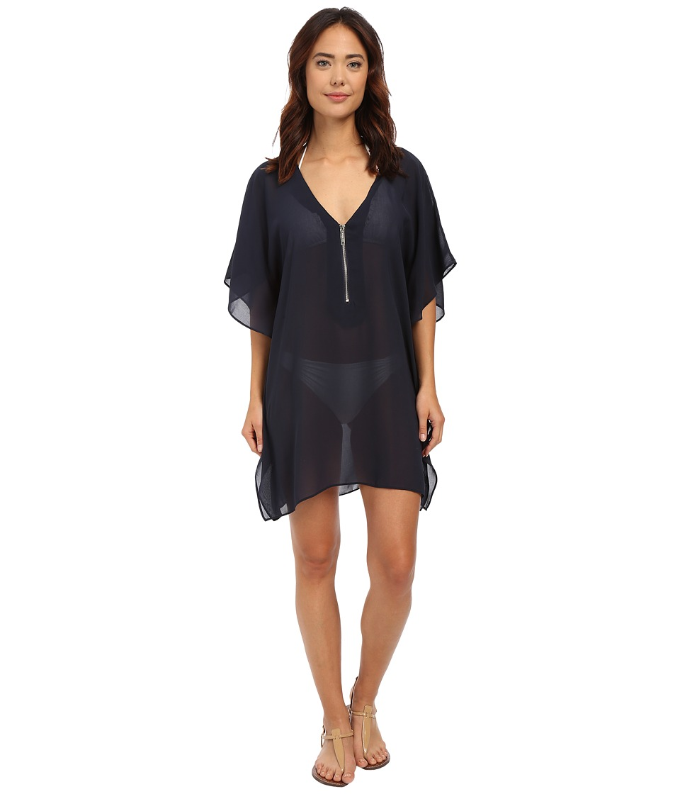 MICHAEL Michael Kors - Draped Solids Tunic Cover-Up (New Navy) Women