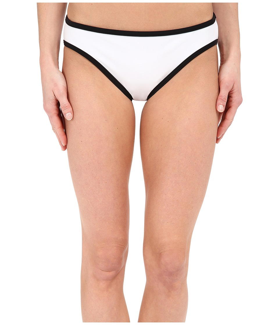 MICHAEL Michael Kors - Color Blocked Scuba Classic Bottom (White) Women's Swimwear