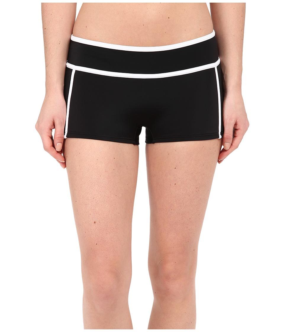 MICHAEL Michael Kors - Color Blocked Scuba Hipster Bottom (Black) Women's Swimwear