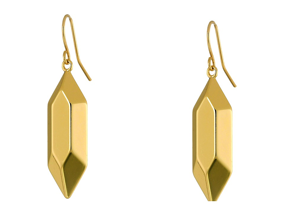 LAUREN by Ralph Lauren - Golden Opulence Large Metal Nugget Drop Earrings (Gold) Earring