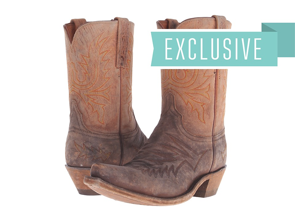 Lucchese - N9728.S54 (Stonewashed Peanut Brittle/Tan Mad Goat) Cowboy Boots
