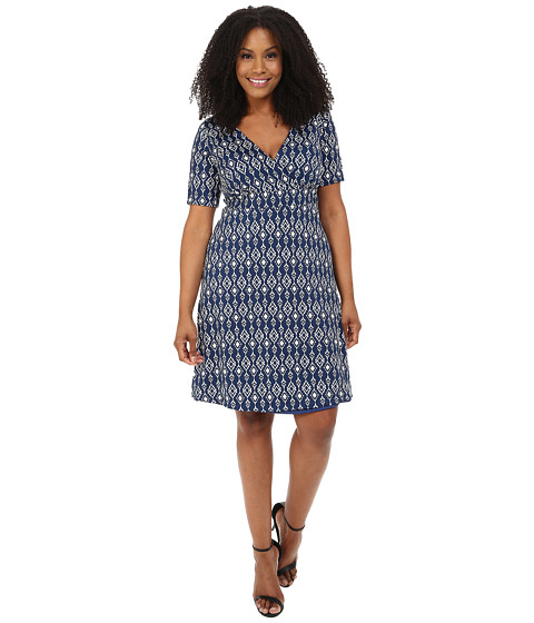Poppy & Bloom - Plus Size Midnight Diamond Dress (Blue) Women's Dress