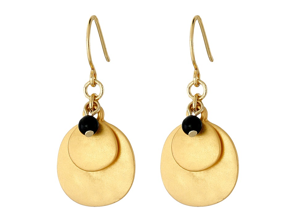 LAUREN Ralph Lauren - Modern Landscape Hammered Disk Cluster Earrings (Gold/Black) Earring