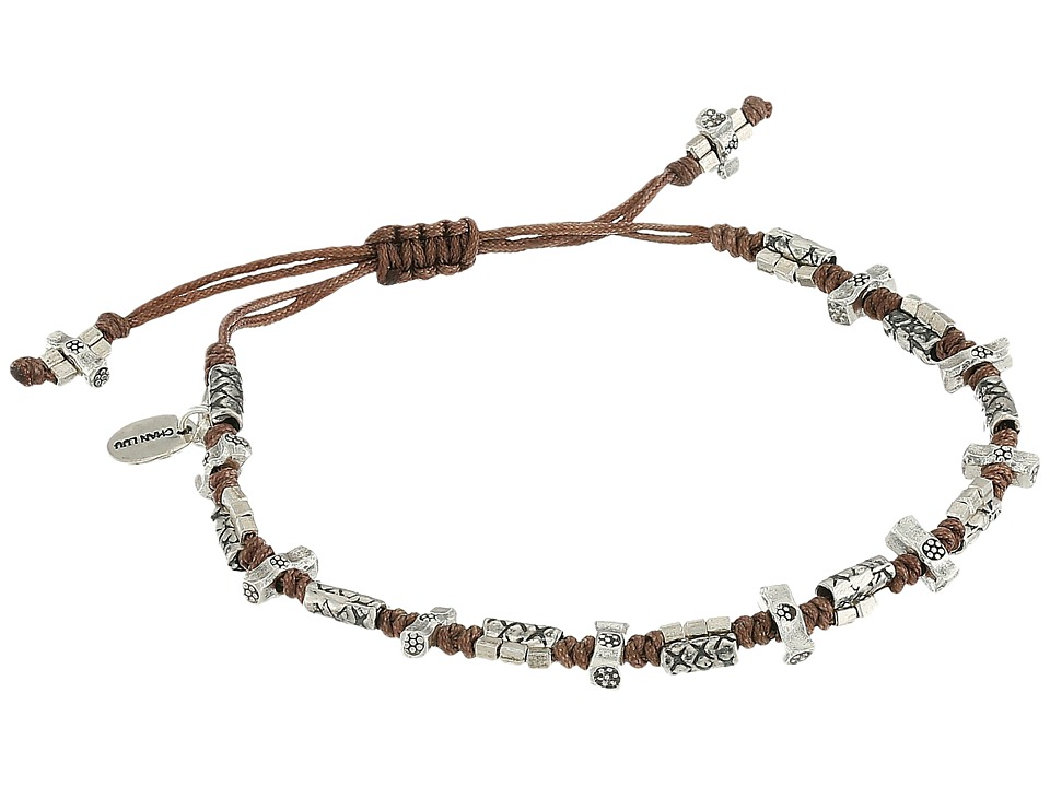 Chan Luu - 7 Pull Tie Taupe Single Bracelet (Taupe) Bracelet