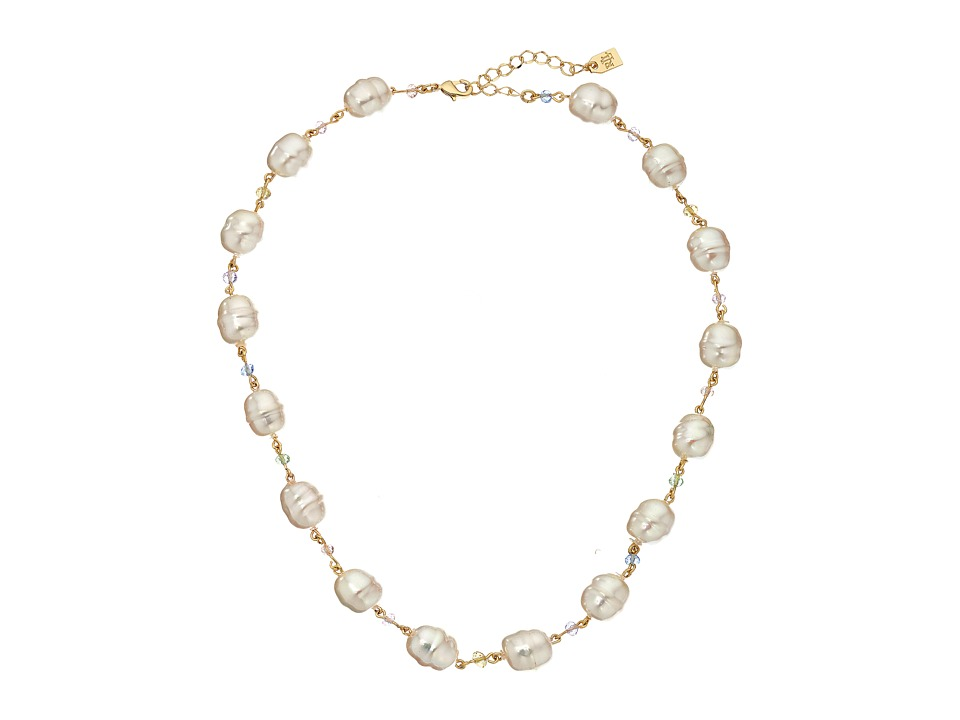 LAUREN Ralph Lauren - Pearls Rock 18 Organic Pearl Necklace (Multi/Gold) Necklace